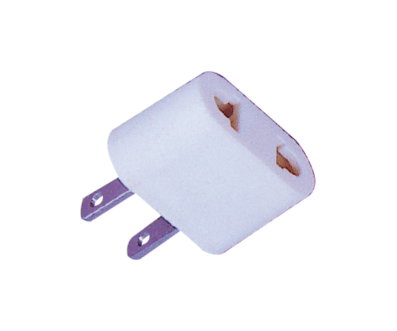 Factory selling PH7-6055 2P FLAT AC PLUG TO  2P AC JACK for Iran Manufacturers detail pictures