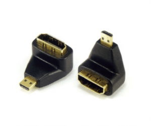 PH7-4097 MICRO HDMI MALE TO  HDMI FEMALE ADAPTOR, 90° ANGLE TYPE  G:GOLD  N:NICKLE