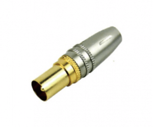 PH7-2892 PAL PLUG FOR  7.8MM CABLE SILVER & GOLD HANDLE