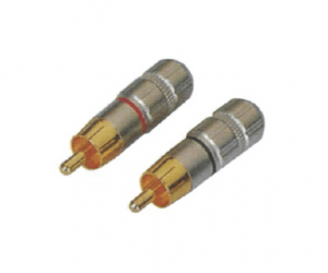 PH7-2253 RCA PHONE MALE PLUG GOLD PIN PLATED