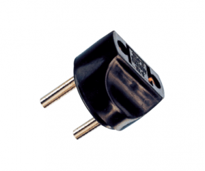 PH7-6092 2P ROUND AC PLUG TO  2P AC JACK