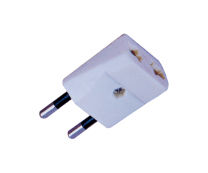 PH7-6077 2P ROUND AC PLUG TO  2P AC JACK