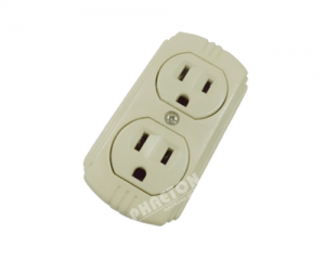 Flat two way South American Wall Socket Plate