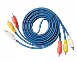 3RCA TO 3RCA BLUE AUDIO VIDEO RCA Cable