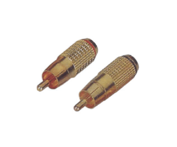 Factory Free sample PH7-2283 RCA PHONE MALE PLUG GOLD PLATED to Johannesburg Factory
