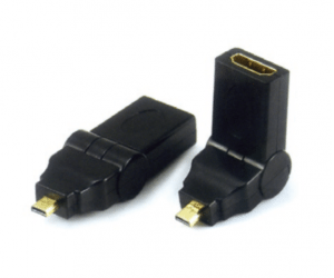 PH7-4111 MICRO HDMI MALE TO  HDMI FEMALE ADAPTOR,  SWING TYPE  G:GOLD  N:NICKLE