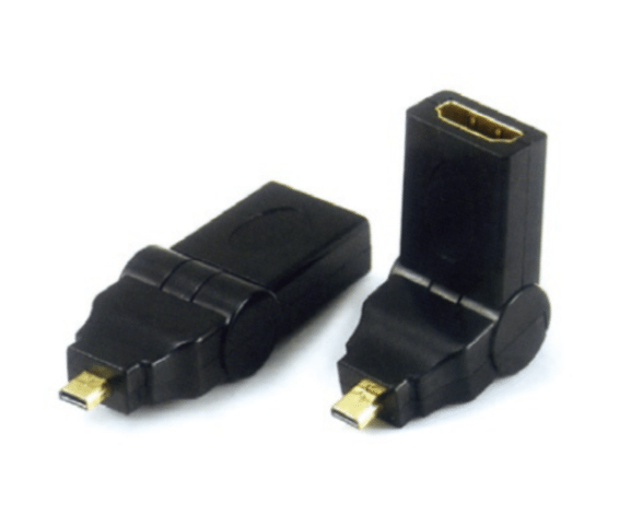 Wholesale PH7-4111 MICRO HDMI MALE TO  HDMI FEMALE ADAPTOR,  SWING TYPE  G:GOLD  N:NICKLE Supply to United States
