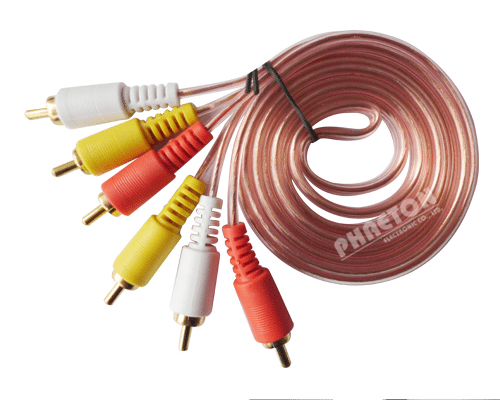 Rapid Delivery for 3RCA TO 3RCA TRANSPARENT AUDIO VIDEO RCA Cable to Portugal Factory
