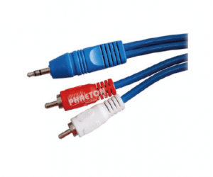 PH7-1045 3.5MM STEREO TO  2RCA BLUE CABLE