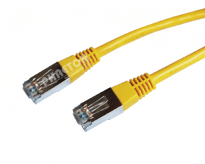 Cat5e UTP4 Patch Golddrot RJ45 Schëld Plug