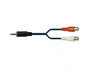 PH7-1009 3.5MM STEREO PLUG TO 2RCA JACKS Y TYPE CABLE