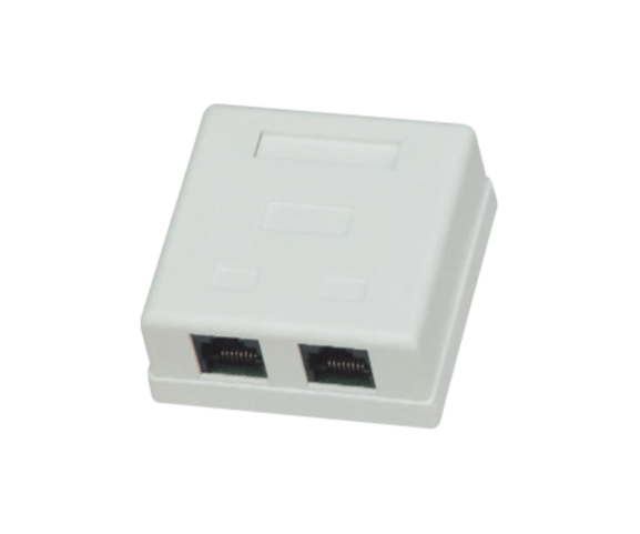 Factory wholesale PH7-5009 DOUBLE RJ45(8P8C) BOX to Algeria Factory