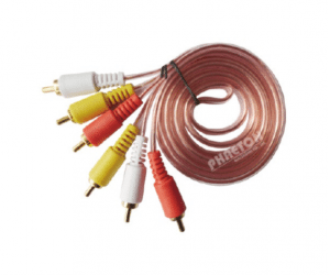 PH7-1047 3RCA TO  3RCA TRANSPARENT  CABLE