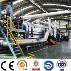 Latest technology Continuous Waste Tire Pyrolysis Fuel Oil Plant with CE/TUV/SGS