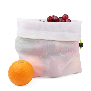 Eco Recycled Washable Nylon RPET MESH BAG FOR vegetables and fruits