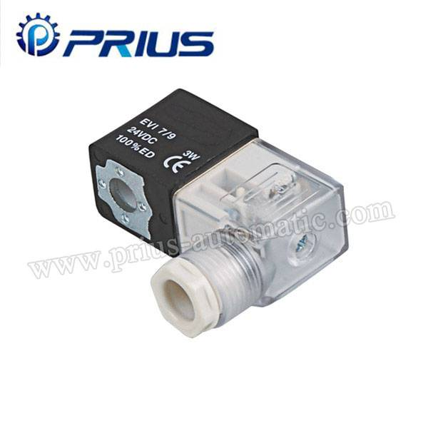 Professional Pneumatic Solenoid bawul 12V / 24V / 11V / 220V Da Junction Box / Waya Featured Image