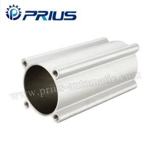 Bore 32mm - 200mm Tube Air Cylinder Accessories SI Series Mickey Mouse Aluminum Barrel