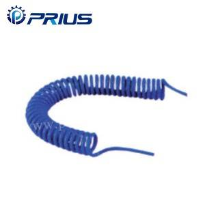 PUU Polyurethan Spiral Pneumatisk Air Tubing Anti - Vejret Med Push In Fitting