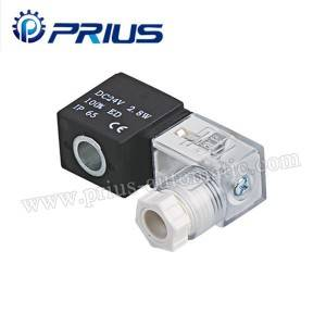100 Serie 24vdc pneumatico Solenoid Valve coil Cù Junction Box Wire piombo