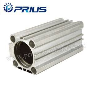CQ2 Ceàrnag Aluminium Air siolandair Tubing, SMC Type Pneumatic siolandair Tube