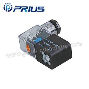 Professional Pneumatic Solenoid bawul 12V / 24V / 11V / 220V Da Junction Box / Waya
