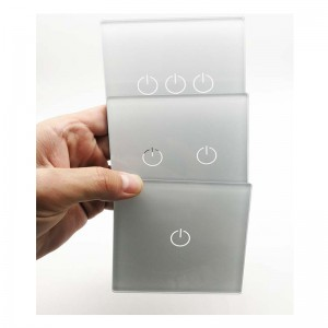Silk Screen Printing 2mm 3mm Tempered Wall Switch Touch Glass Panel