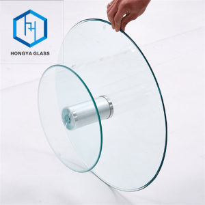 32″ glass lazy Susan tops 10mm round tempered glass table top