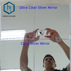 3mm, 4mm, 5mm Silver safety Glass mirror Sheet Price with Double Coated