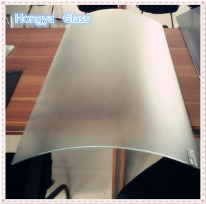 3mm 4mm Frosted curved tempered glass