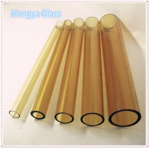 Best selling borosilicate glass 3.3 tube Yellow color