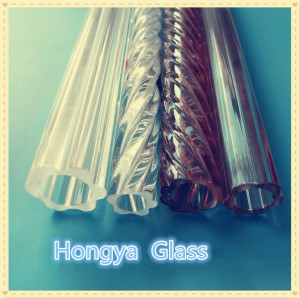 3.3 plum profile tube hexagon shaped borosilicate glass tube