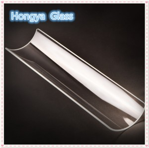 Half Round Optical Quartz Glass Tube