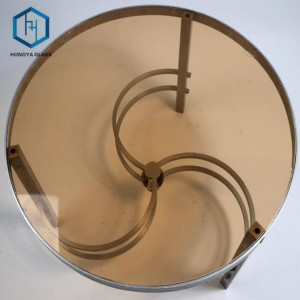 8mm Tempered Bronze Tinted Float Glass Round Table Top