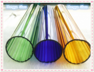 Large diameter coloured borosilicate 3.3 glass tube the price of cheap