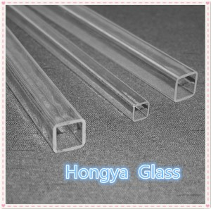 Transparent Borosilicate Square Pyrex Glass Tube
