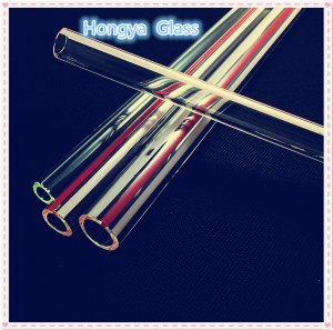 clear high borosilicate 3.3 glass tube