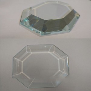 Wholesale Clear Bevel Edge Glass Square /Circular Plates