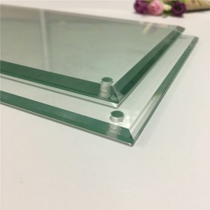 Qingdao manufacturer square tempered beveled glass