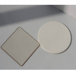 3mm 4mm 5mmT heat resistant ceramic fireplace glass robax glass /round glass