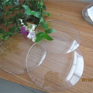 Customized size round clear sheet glass for picture frame & clock cover