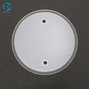 1.5mm sandblasted glass light cover