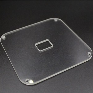 High temperature quartz plate for viewing window glass