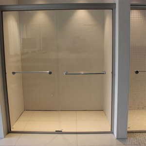 polished edge shower partition door 10mm 12mm tempered glass price
