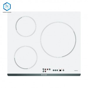 High temperature heat resistant White Ceramic glass for cooktop covers