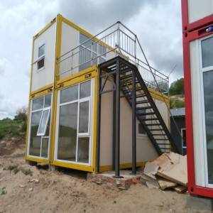 Flat Pack Prefab Container House për Living