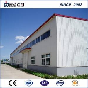 High Quality Nga engineered hanga Metal Factory Building Light ụba Steel Structure Onodi