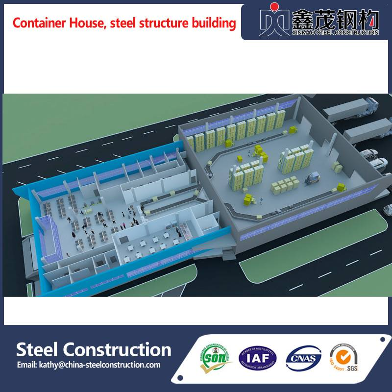 China Steel Construction Prefabricated Building for Plant/Workshop/Warehouse