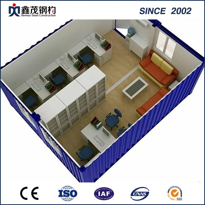 ISO Certificate Prefab Office Dépannage in Low Cost (Dépannage House)