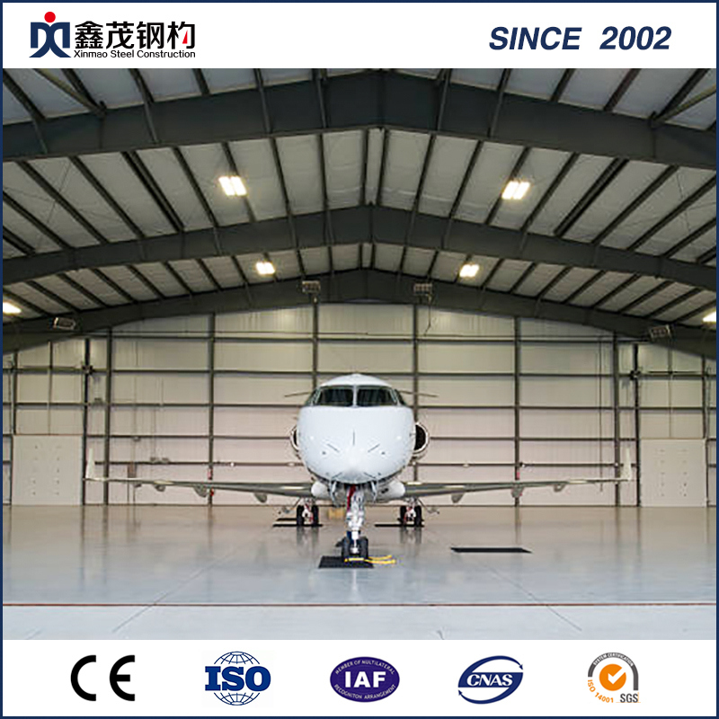 Large Span Matal Material Steel Structure Building Steel Frame Hangar for Airplane