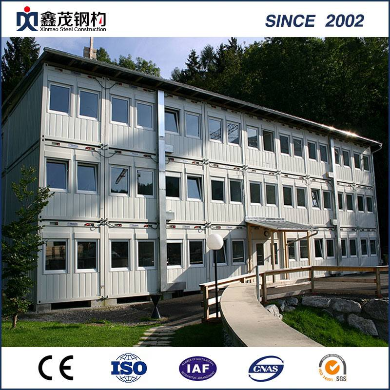 Prefabricated Flat Pack Sandwich Panel Dépannage House di Office
